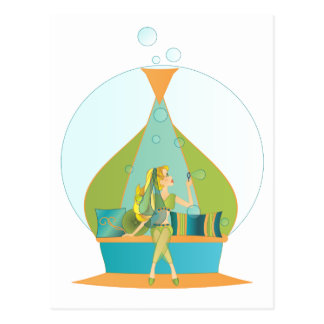 Genie Blowing Bubbles Postcard