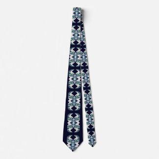 Genie Bottle Fashion Tie for Men-Blue/Navy/White