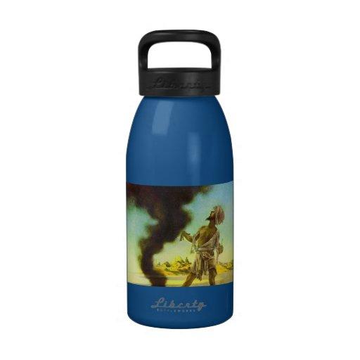 Genie in a Bottle by Maxfield Parrish Water Bottle
