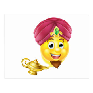 Genie Magic Lamp Emoji Postcard