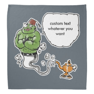 genie of the lamp custom text whatever you want bandanna