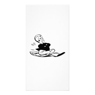 Genie on Flying Carpet Picture Card