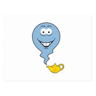 Genie  Smiley Face Postcard