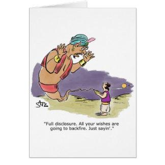Genie talking to Aladdin Card
