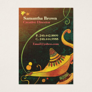 Genie's Lamp Chic Fantasy Business Cards