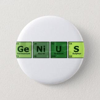 genius 6 cm round badge