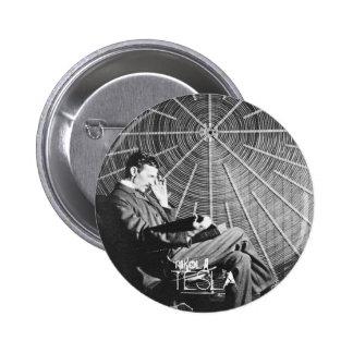 Genius at work 6 cm round badge