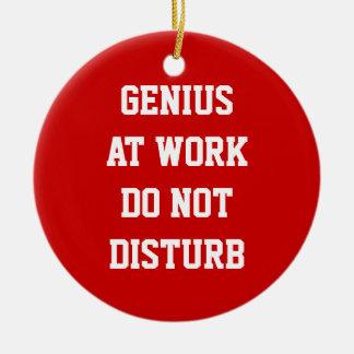 Genius at work do not disturb door hanger ornament