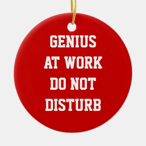 Genius at work do not disturb door hanger ornament