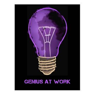 Genius at Work Postcard