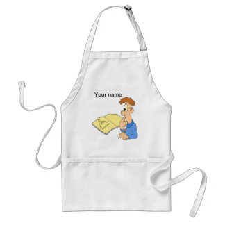 Genius boy adult apron