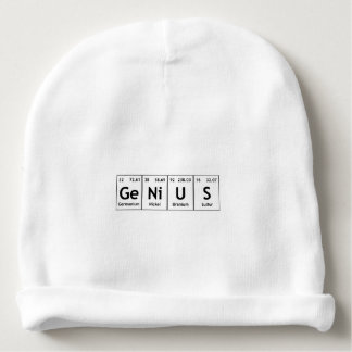 GeNiUS Chemistry Periodic Table Words Elements Baby Beanie