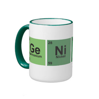 Genius Cup. Periodic table of elements. Ringer Mug