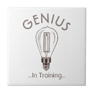 Genius In Training Antique Light Bulb Ceramic Tile