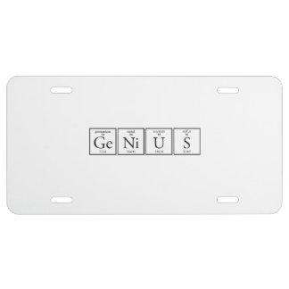 Genius License Plate