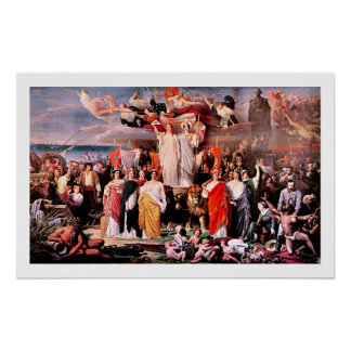 Genius of America by Adolphe Yvon Fine Art Poster