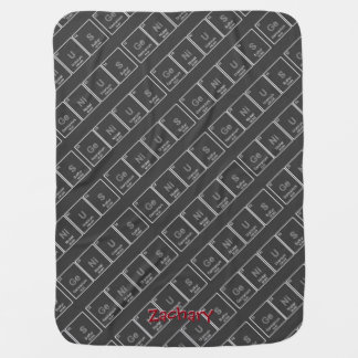 GeNiUS Periodic table custom baby blanket