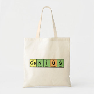 Genius - Periodic Table of Elements Products Budget Tote Bag