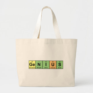 Genius - Periodic Table of Elements Products Jumbo Tote Bag