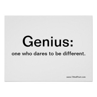 Genius - poetry poster