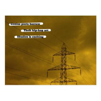 Genius poets borrow postcard