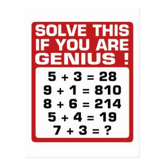 Genius Question Postcard