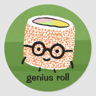 Genius Roll Classic Round Sticker