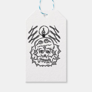 genius Skull Idea Gift Tags