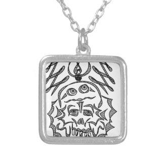 genius Skull Idea Silver Plated Necklace