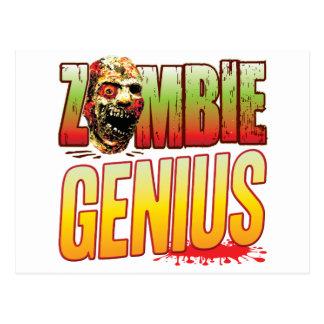 Genius Zombie Head Postcard