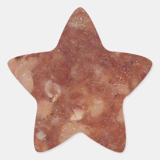 Genoa Salami Texture Star Sticker
