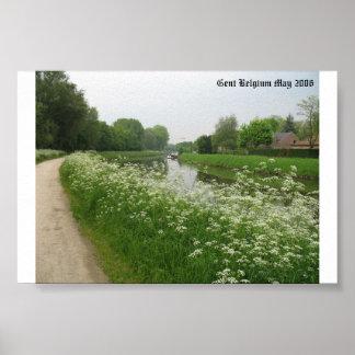 Gent Belgium in the Spring Poster