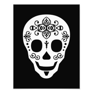 Gent Sugar Skull by Leslie Peppers Photo Print