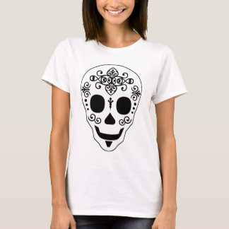 Gent Sugar Skull by Leslie Peppers T-Shirt