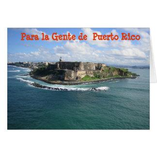 Gente de Puerto RIco Feliz Navidad Christmas card