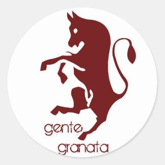 Gente Granata round sticker