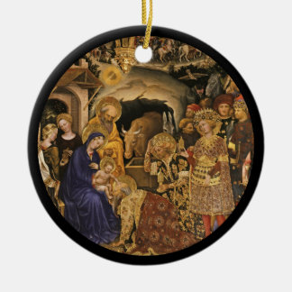 Gentile Dei Fabriano Adoration of Magi Round Ceramic Decoration