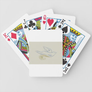 Gentle bird bicycle playing cards