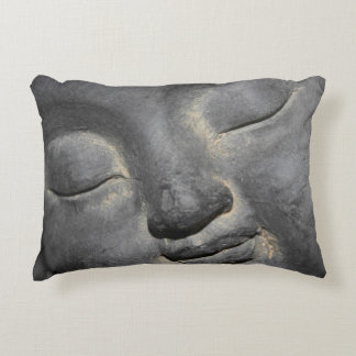 Gentle Buddha Face Stone Sculpture Decorative Cushion