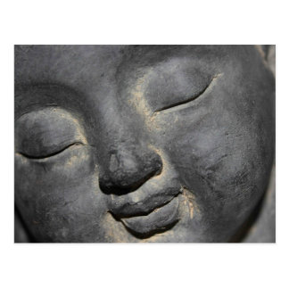 Gentle Buddha Face Stone Sculpture Post Card