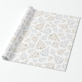 Gentle Christmas Trees Wrapping Paper