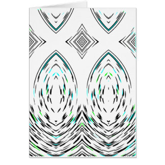 Gentle Classic Folk Ornamental Geometric Design Card