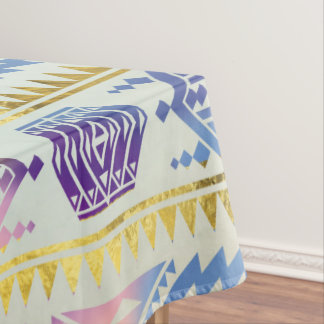 Gentle Colorful Aztec Peruvian Tribal Pattern Tablecloth
