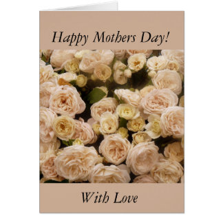 Gentle Cream Roses Greeting Card