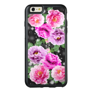 Gentle cute flowers pink purple peonies OtterBox iPhone 6/6s plus case