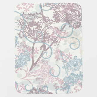Gentle design with field plants baby blanket