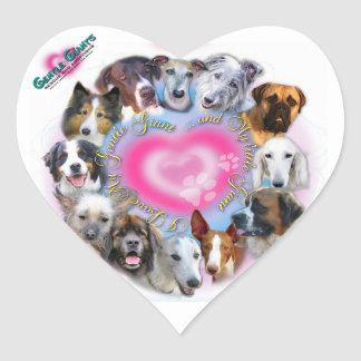Gentle Giants Rescue and Adoptions Heart Sticker