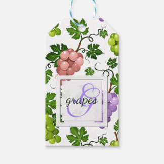 Gentle Grapes and Grapevines Gift Tags