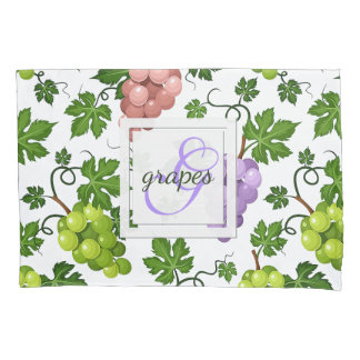 Gentle Grapes and Grapevines Pillowcase
