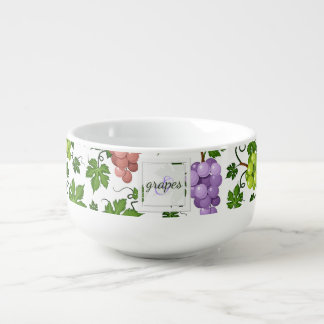 Gentle Grapes and Grapevines Soup Mug